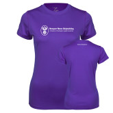 Ladies Syntrel Performance Purple Tee-Business Management