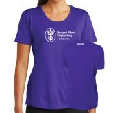 Ladies Syntrel Performance Purple Tee-ISCVN