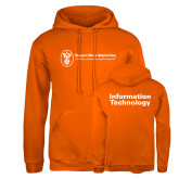 Russell DriPower Orange Fleece Hoodie-Information Technology
