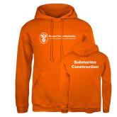 Russell DriPower Orange Fleece Hoodie-Submarine Construction