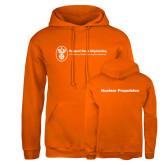 Russell DriPower Orange Fleece Hoodie-Nuclear Propulsion