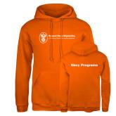 Russell DriPower Orange Fleece Hoodie-Navy Programs