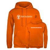 Russell DriPower Orange Fleece Hoodie-Comms