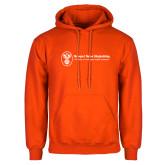 Orange Fleece Hoodie-Newport News Shipbuilding