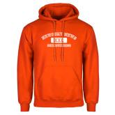 Orange Fleece Hoodie-NNS College Design
