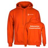 Orange Fleece Hoodie-Submarine Construction