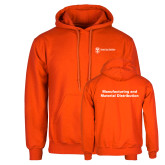 Orange Fleece Hoodie-Manufacturing and Material Distribution