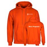 Orange Fleece Hoodie-Navy Programs