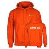 Orange Fleece Hoodie-CVN 80 and 81