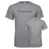 Grey T Shirt-Newport News Shipbuilding