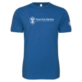 Next Level SoftStyle Royal T Shirt-Newport News Shipbuilding