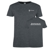 Ladies Dark Heather T Shirt-Manufacturing and Material Distribution