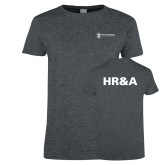 Ladies Dark Heather T Shirt-HR and A