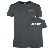 Ladies Dark Heather T Shirt-Quality