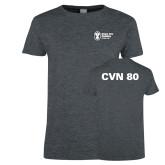 Ladies Dark Heather T Shirt-CVN 80 and 81