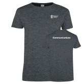Ladies Dark Heather T Shirt-Comms