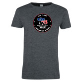 Ladies Dark Heather T Shirt-CVN 78