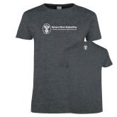 Ladies Dark Heather T Shirt-Newport News Shipbuilding
