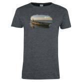 Ladies Dark Heather T Shirt-NNS Design 1