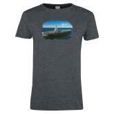 Ladies Dark Heather T Shirt-NNS Design 3