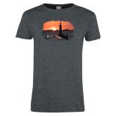 Ladies Dark Heather T Shirt-NNS Design 4