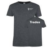 Ladies Dark Heather T Shirt-Trades