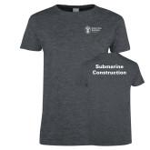 Ladies Dark Heather T Shirt-Submarine Construction