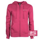 ENZA Ladies Fuchsia Fleece Full Zip Hoodie-IPPC