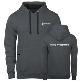 Contemporary Sofspun Charcoal Heather Hoodie-Navy Programs