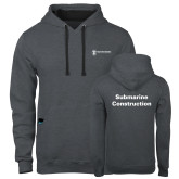Contemporary Sofspun Charcoal Heather Hoodie-Submarine Construction