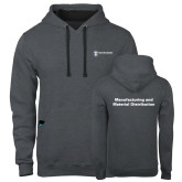 Contemporary Sofspun Charcoal Heather Hoodie-Manufacturing and Material Distribution