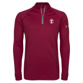 Under Armour Maroon Tech 1/4 Zip Performance Shirt-Icon