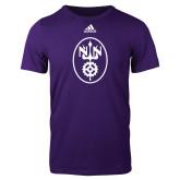 Adidas Purple Logo T Shirt-Icon