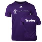 Adidas Purple Logo T Shirt-Trades