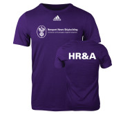 Adidas Purple Logo T Shirt-HR and A