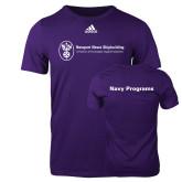 Adidas Purple Logo T Shirt-Navy Programs