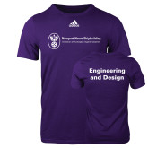 Adidas Purple Logo T Shirt-Engineering and Design