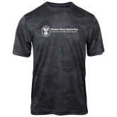Charcoal Camohex Performance Tee-Newport News Shipbuilding