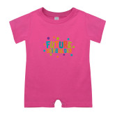 Bubble Gum Pink Infant Romper-Future Shipbuilder