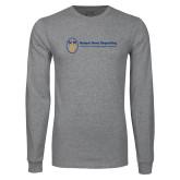 Grey Long Sleeve T Shirt-Newport News Shipbuilding