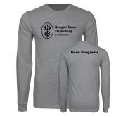 Grey Long Sleeve T Shirt-Navy Programs