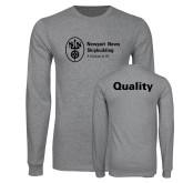 Grey Long Sleeve T Shirt-Quality