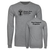 Grey Long Sleeve T Shirt-Fleet Support Programs