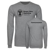 Grey Long Sleeve T Shirt-Comms
