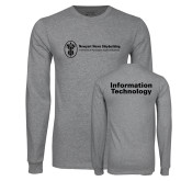 Grey Long Sleeve T Shirt-Information Technology