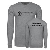 Grey Long Sleeve T Shirt-Submarine Construction