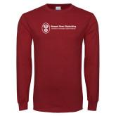 Cardinal Long Sleeve T Shirt-Newport News Shipbuilding
