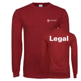 Cardinal Long Sleeve T Shirt-Legal