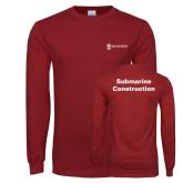 Cardinal Long Sleeve T Shirt-Submarine Construction