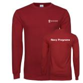 Cardinal Long Sleeve T Shirt-Navy Programs